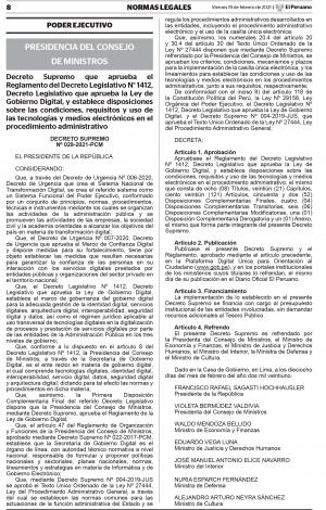 DECRETO SUPREMO Nº 029-2021-PCM