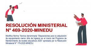 RESOLUCIÓN MINISTERIAL N° 469-2020-MINEDU
