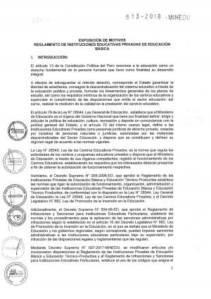 REGLAMENTO DE INSTITUCIONES EDUCATIVAS PRIVADAS DE EDUCACIÓN BÁSICA